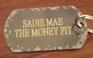 Sadie Mae's new tag