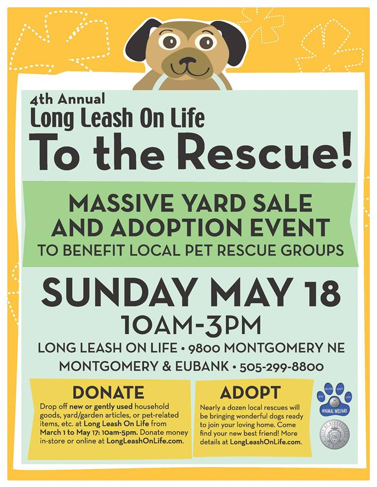 To the Rescue event flyer