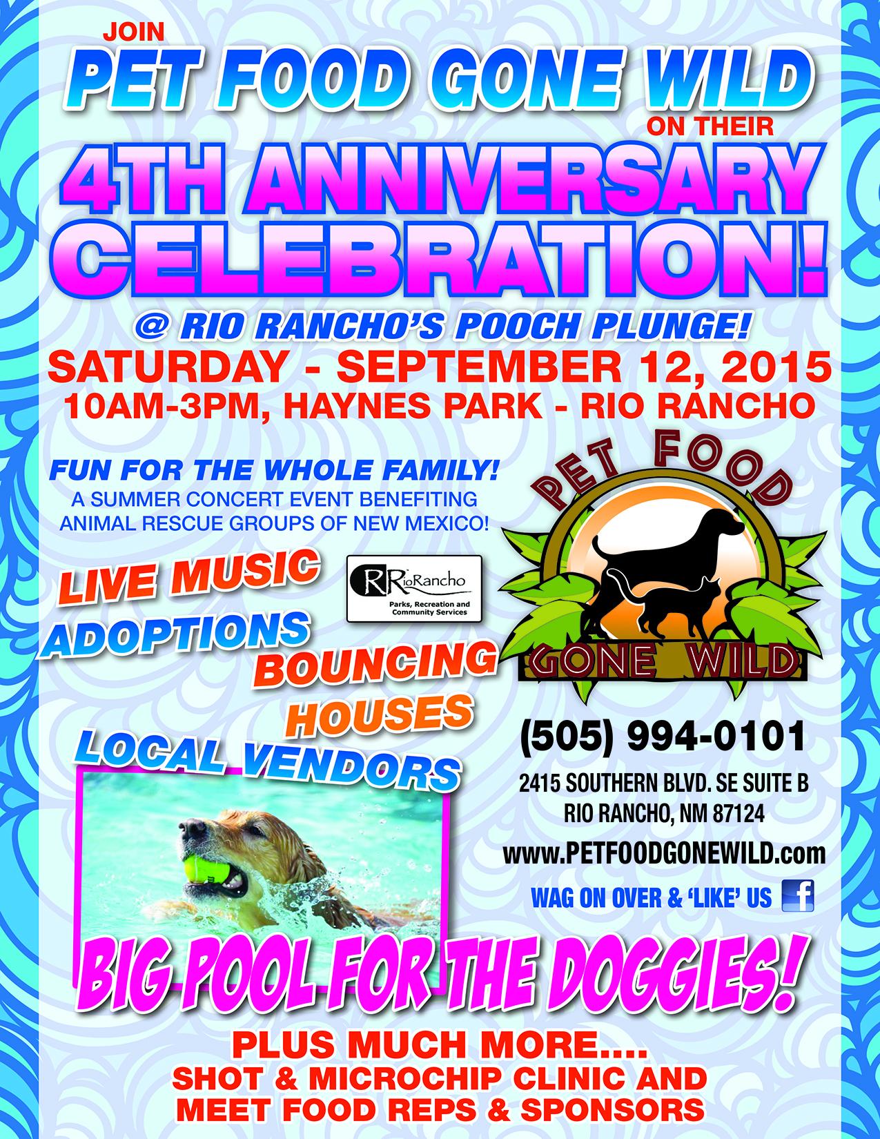 Pet Food Gone Wild 4th Anniversary Celebration Nmdog