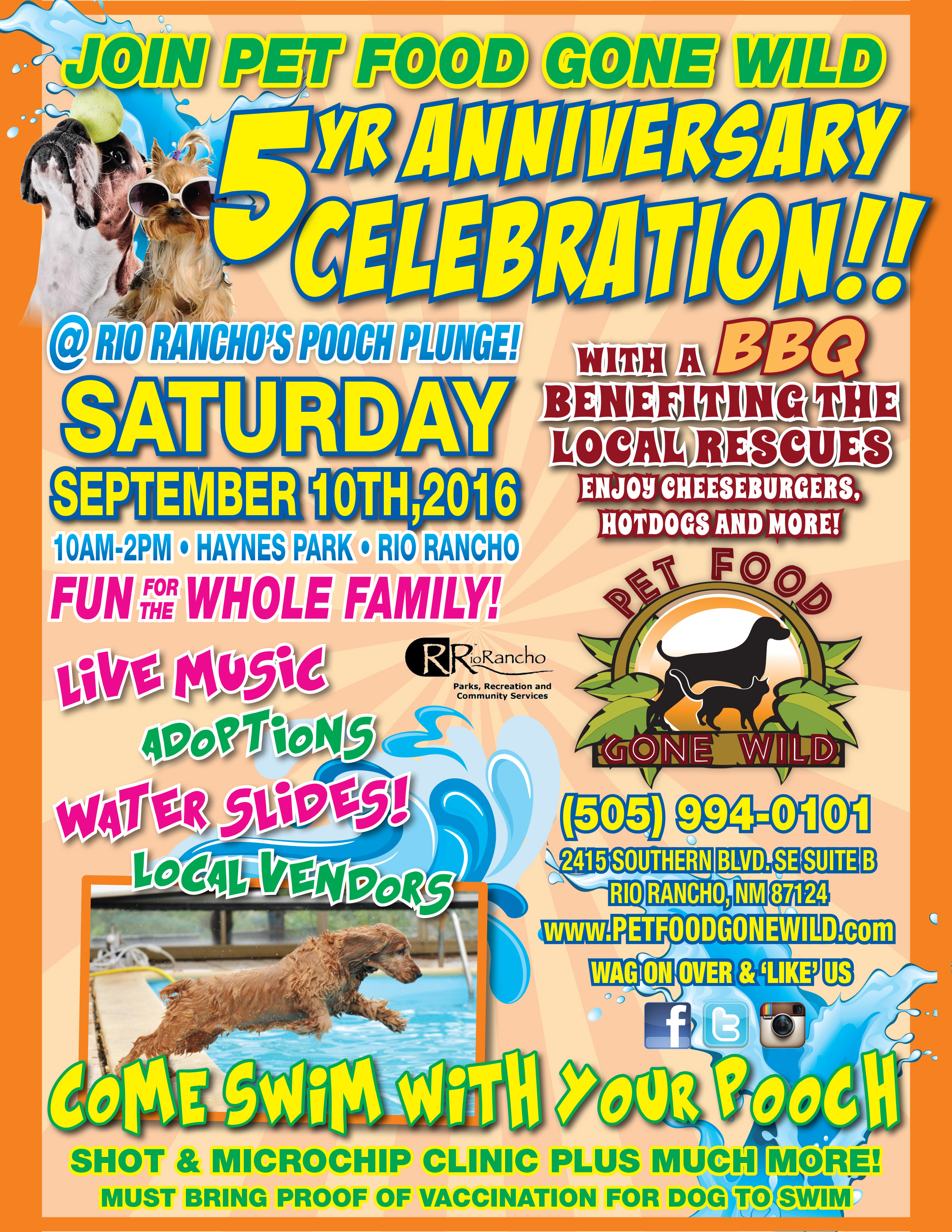 Pet Food Gone Wild 5th Anniversary Celebration Nmdog