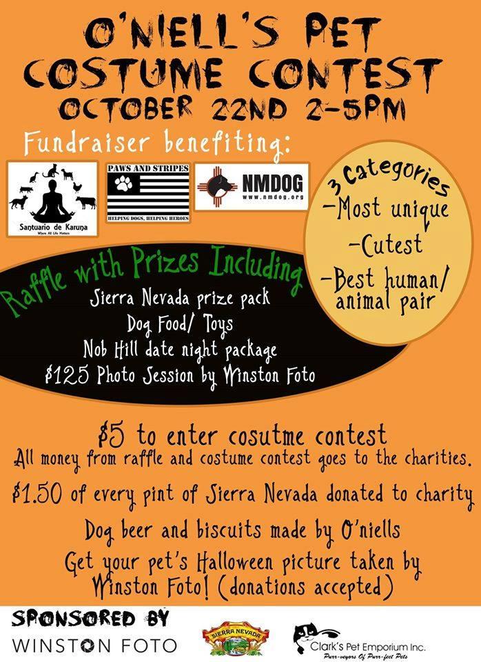 O'Niell's Pet Costume Contest @ O'Niells Pub | Albuquerque | New Mexico | United States