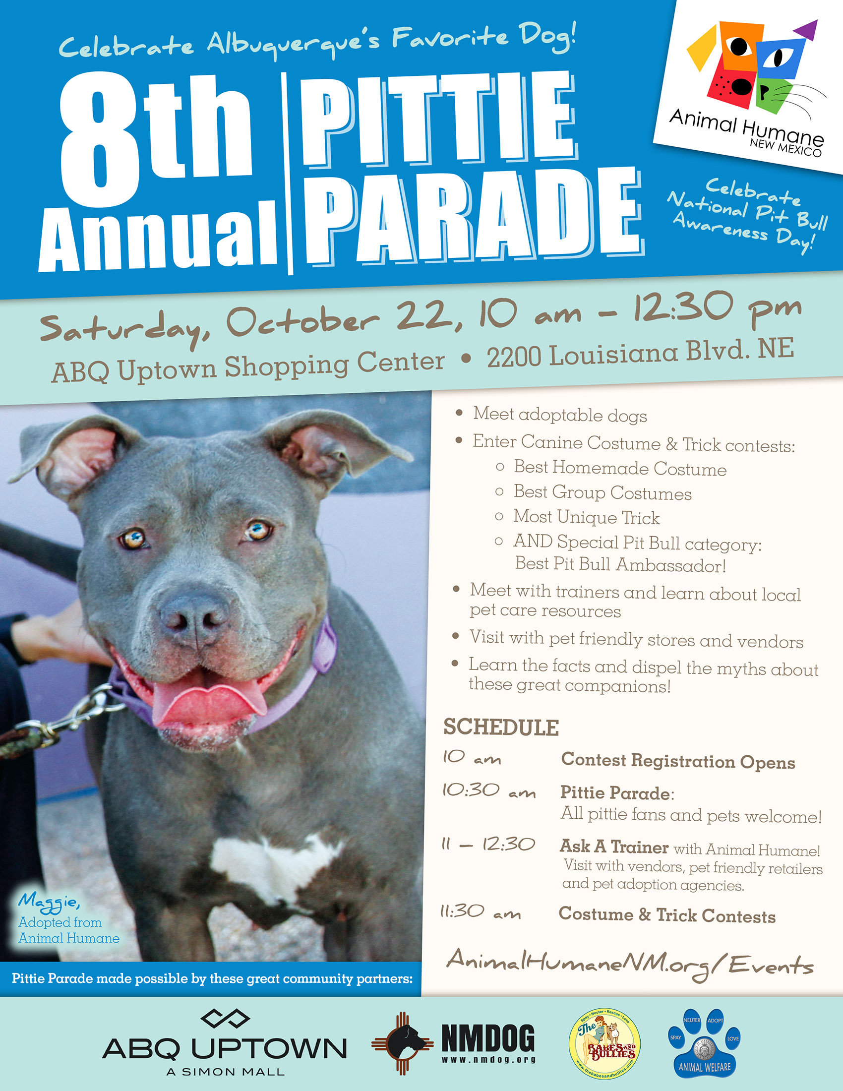 Animal Humane NM s 8th Annual Pittie Parade NMDOG