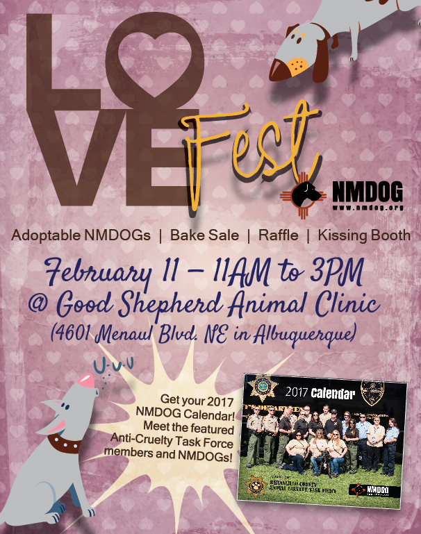 NMDOG LoveFest -- Rescheduled! @ Good Shepherd Animal Clinic | Albuquerque | New Mexico | United States