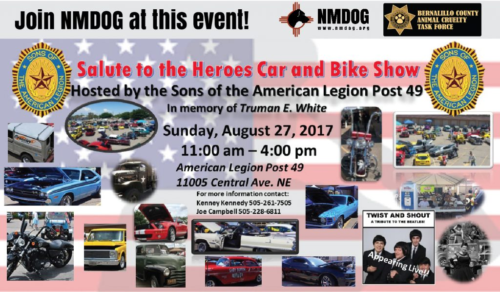 Salute to Heroes Car and Bike Show @ American Legion Post 49 | Albuquerque | New Mexico | United States