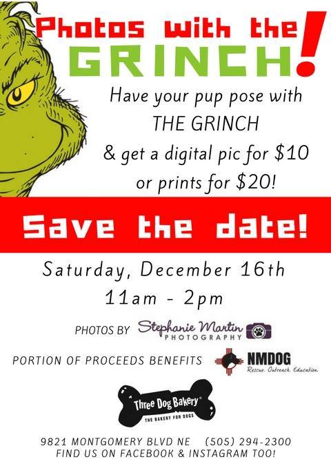 Photos with the Grinch! @ Three Dog Bakery | Albuquerque | New Mexico | United States