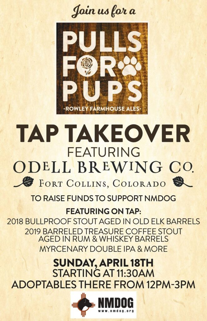 Pulls for Pups Odell Tap Takeover for NMDOG @ Rowley Farmhouse Ales